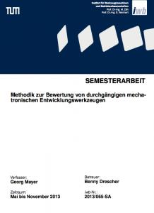 Titelseite Semesterarbeit
