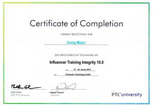 Zertifikat PTC Integrity